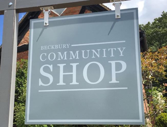 Beckbury Community Shop Sign